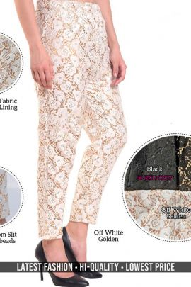 Collection Of Casual Ethnic Wear Cotton Net Pearl Work Hi Fashion Pant