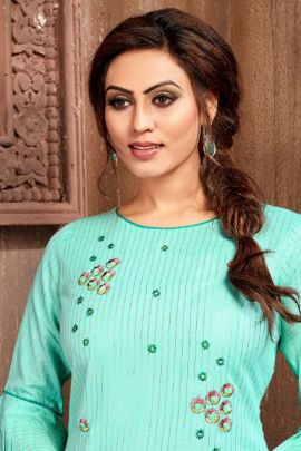 Collection Of Casual Wear Fancy Fabric Hand Work Manas Kurti