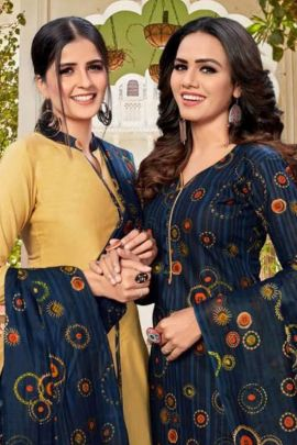Collection Of Daily Wear Cotton Printed Patiyala Suit By JS Priya