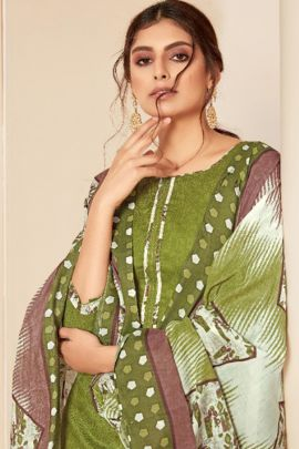 Collection Of Daily Wear Cotton Printed Patiyala Suit Material By Alok Suit