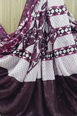 Collection Of Daily Wear Printed Georgette Saree By Saibaba Textile