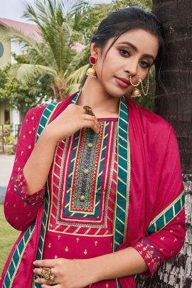 Collection Of Designer Rayon Print With Work Suit By Rangoon