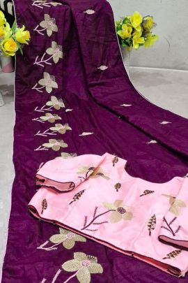 Collection Of Dola Silk Party Wear Weaved Saree By Desney Fashion