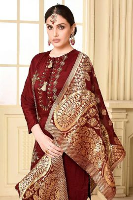 Collection Of Hand Work Event Wear Anchal Creation Shrara Suit With Dupatta