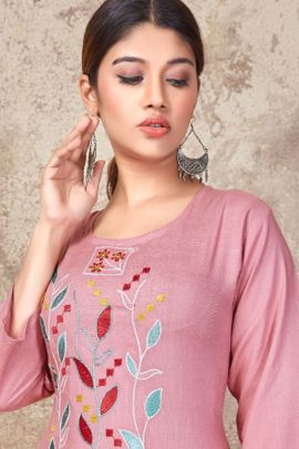 Collection Of Rayon Manual Embroidered Kurti By Rung