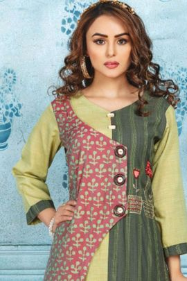 Collection Of Stylish Rayon Embroidery Kurti With Bottom By Wanna