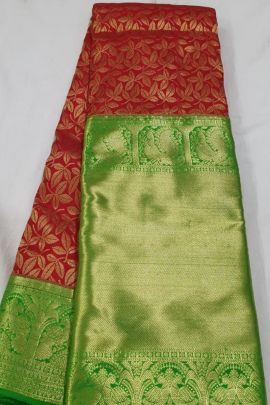 Collection Of Wedding Wear Silk High Tissue Saree With Gold And Silver Work By R Yuvaraj