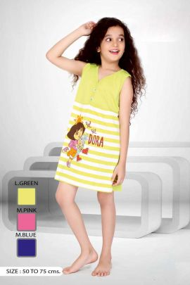 Light-Yellow-Dora-Cartoon-Print-Cotton-Night-Wear-Little-Girls-Paticoat-In-Wholesale-3555-6700.jpg
