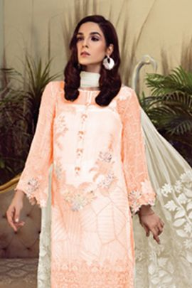 Pack Of 4 Georgette Pakistani Suit With Multicolor Sequins And Embroidery Work By Kilruba