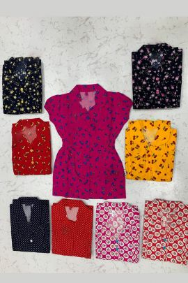 Pack Of Casual Daily Wear Cotton Printed Girls Top