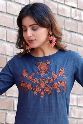 Pack Of Casual Wear Embroidery Work Arion Kurti With Pant Bunch