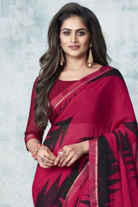 Pack Of Casual Wear Printed Chiffon Ruchi Sarees With Blouse Piece Bunch