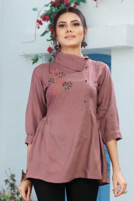 Pack Of College Wear Embroidered Rayon Aradhna Fashion Top Bunch