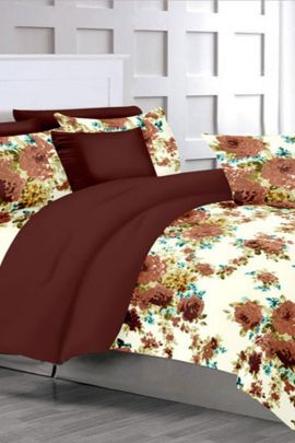 Pack Of Cotton Printed Akshay Cotton Mills Double Bed Sheet With Pillow Cover