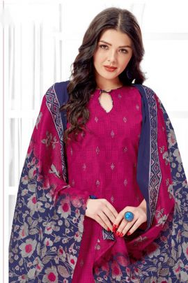Pack Of Daily Wear Printed Cotton Patiyala Style Salawar Suit With Dupatta Set
