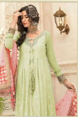 Pack Of Festival Wear Embroidery Work Georgette Pakistani Suit By Junaid And Jamshed