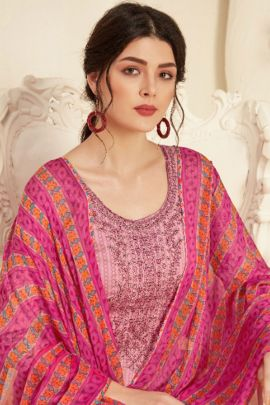 Pack Of Festive Wear Cotton Embroidered Alok Salwar Suit With Dupatta Bunch