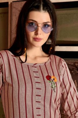 Pack Of Festive Wear Cotton Embroidered Fashion Galleria Kurti