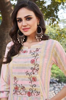 Pack Of Festive Wear Embroidered Cotton Tunic House Kurti Bunch