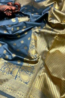 Pack Of Festive Wear Silk Weaved London Beauty Saree With Blouse Piece