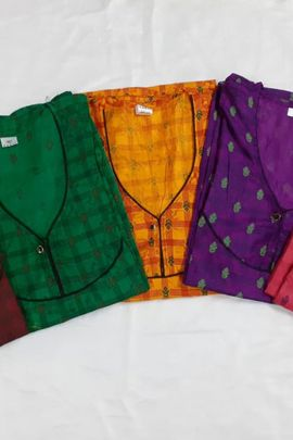 Pack Of Night Wear Cotton Comfortable Printed Nighties By Nandi Creation