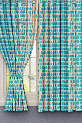 Pack Of Printed Ready Made Linen Hometique Curtain For Windows