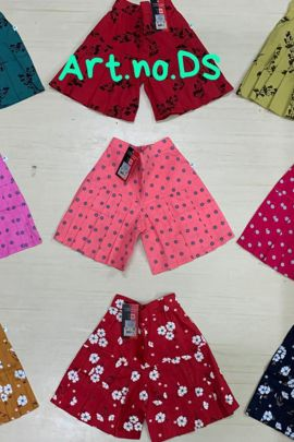 Pack Of Printed Regular Casual Wear Cotton Girls Skirts