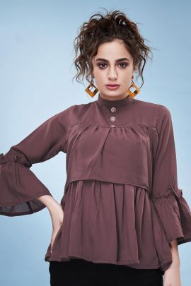 Pack Of Stylish Rayon Georgette College Wear Tops By NU