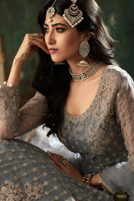 Pack Of Wedding Wear Embroidered Net Mohini Fashion Indo Western Suit Set