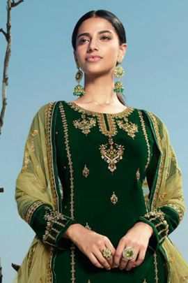 Pack Of Wedding Wear Embroidery Work Georgette Indo Western Suit With Dupatta