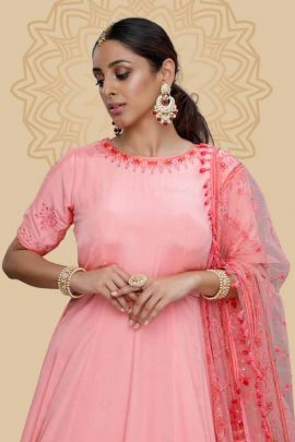 Pack Of Wedding Wear Georgette Embroidered Khushbu Fashion Gown