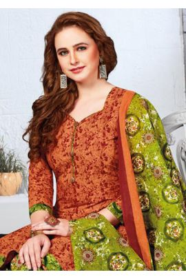 Set Of Office Wear Cotton Printed Patiyala Suit With Dupatta Collection