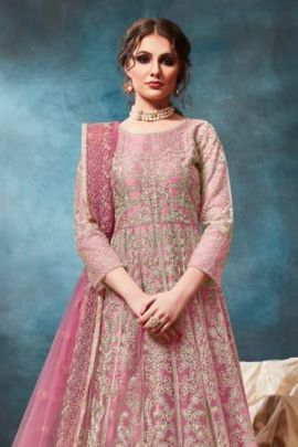 Set Of Wedding Wear Embroidery Work Net Suit By Twisha
