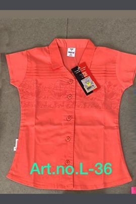Set Of Western Wear Cotton Stretchable Material Girls Tops