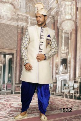 White-Virat-Kohli-Style-Long-Sleeves-Jacquard-Sherwani-With-Velvet-Dhoti-Bottom-1532-4368.jpg