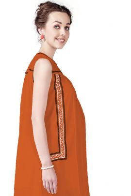 Wholesale Bunch Of 5 Casual Daily Wear Plain Polyester Short Length Tunics For Pregnant Women