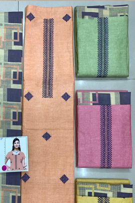 Wholesale Cambric Cotton Printed Event Wear Dress Material With Dupatta Collection