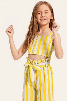 Wholesale Casual Daily Wear Poly Rayon Girls Two Piece Collection