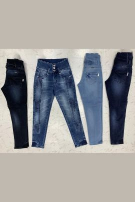 Wholesale Casual Event Wear Plain Denim Girls Jeans Collection