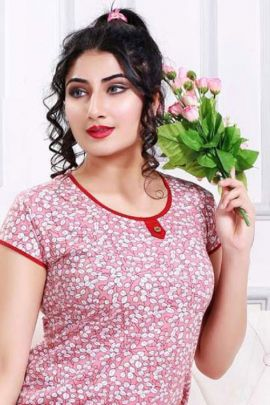 Wholesale Casual Night Wear Printed Cotton Sinker Night Collection