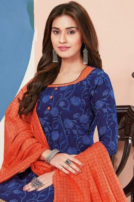 Wholesale Casual Wear Printed Cambric Cotton Salwar Suit Collection