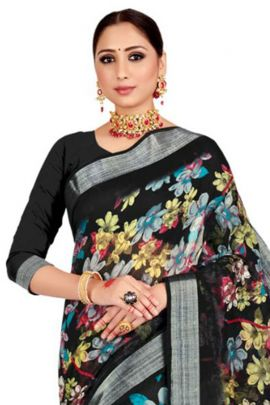 Wholesale Casual Wear Printed Cotton Silk Saree By VND
