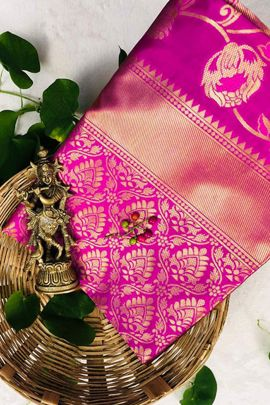 Wholesale Casual Wear Weaved Silk Saree By London Beauty