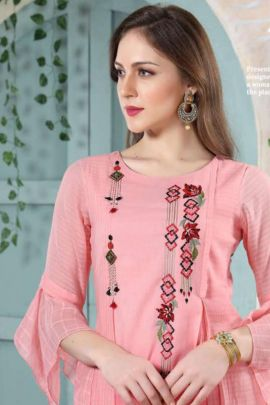 Wholesale Cotton Embroidered Event Wear Stylish Designer Kurti Collection