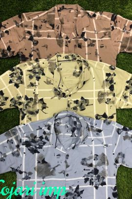 Wholesale Cotton Evening Wear Wear Mens Printed Shirts Collection