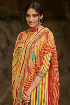 Wholesale Cotton Knee Length Printed Evening Wear Deepsy Suit Dress With Dupatta Collection
