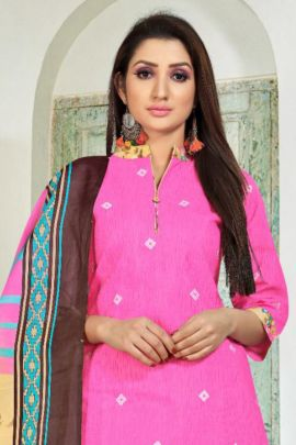 Wholesale Cotton Printed Daily Wear Punjabi Style Sweety Fashion Suit With Dupatta Collection
