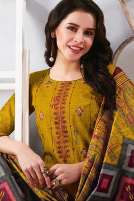 Wholesale Cotton Printed Evening Wear Knee Length Bandhani Palace Dress With Dupatta Collection