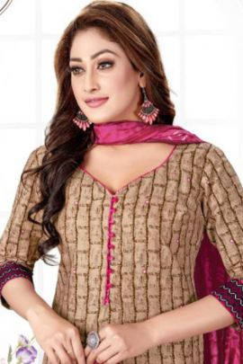 Wholesale Cotton Printed Stylish Event Wear Dress With Dupatta Collection