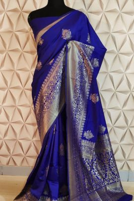 Wholesale Cotton Silk Weaved Event Wear Saree With Blouse Piece Collection